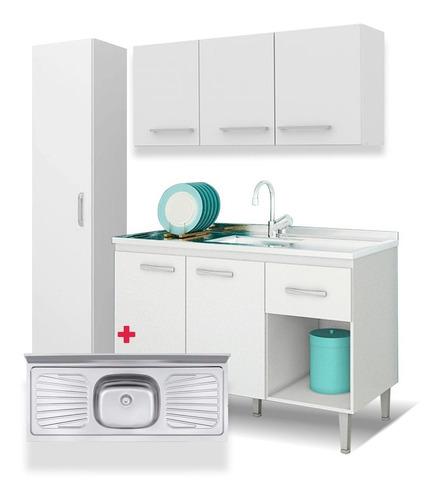 combo cocina mueble bajo mesada tapa aéreo panelero ahorro