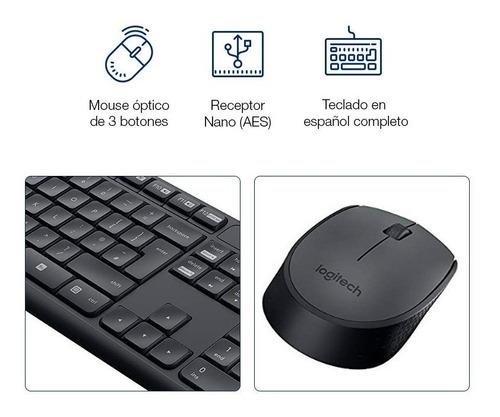 combo inalámbrico logitech mk235 teclado y mouse oferta loi