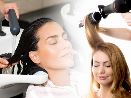 combo peluquería lybrushing shock keratina manos pies $ 690