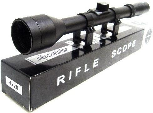 combo rifle de aire chumbera 5.5 + mira 4x28 + 250 chumbos