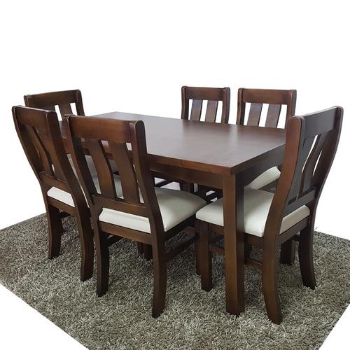 Comedor con 6 sillas en madera maciza minimalista gh - Mesa comedor minimalista ...