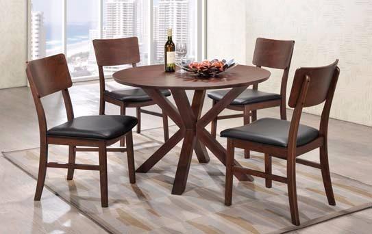 Comedor En Madera Mesa Redonda 4 Sillas Excelente Diseño - $ 15.690 ...