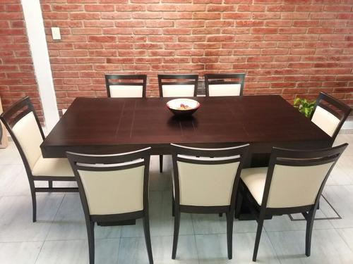 comedor guatambu mesa 2x1- ocho sillas c/envio gratis!!!!