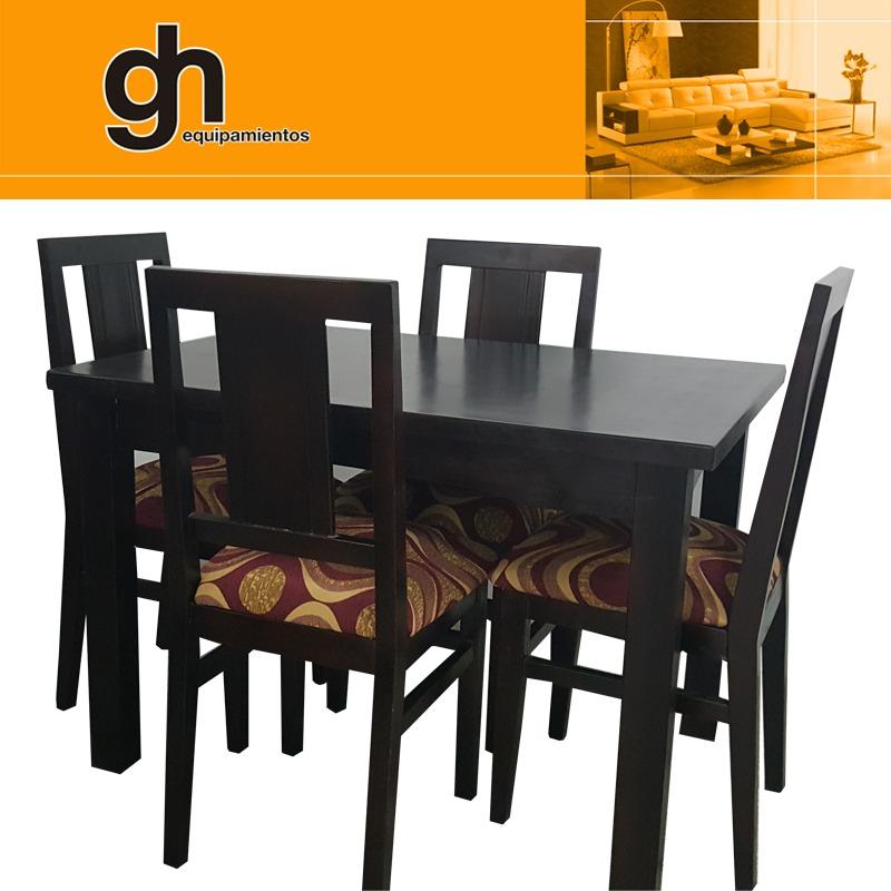 Comedor Mesa Con 4 Sillas Madera Gh.equipamientos - $ 14.990,00 en ...