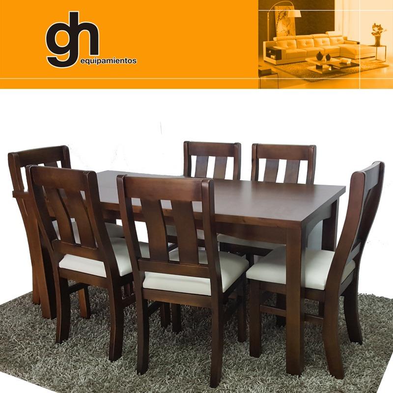 Para 6 Comedor Gh equipamientos Personas Madera Living yvNwP0Om8n