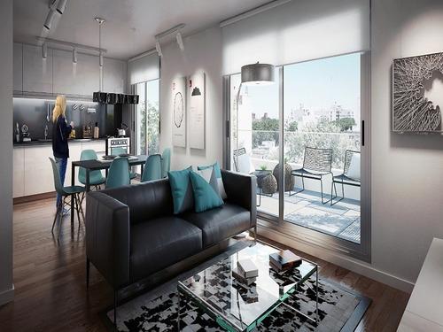 como un penthouse con hermosa terraza