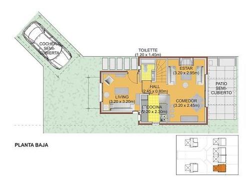 complejo de 6 casas a estrenar en parque miramar. jardín con parrillero propio. seguridad