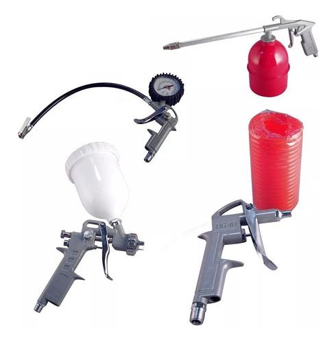 compresor de aire 42l 2,5hp + kit 5 accesorios panther