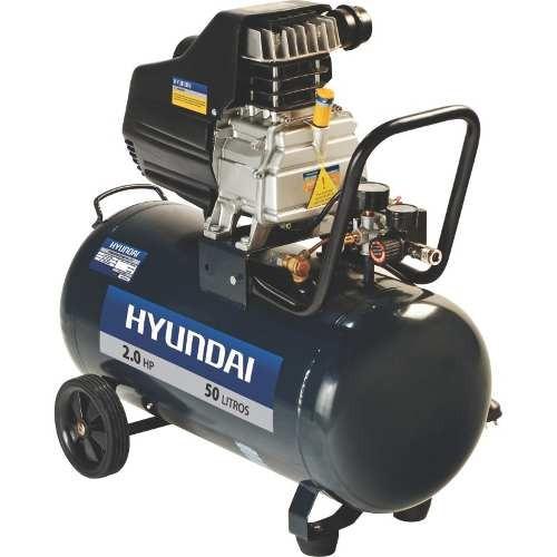 compresor hyundai 50 lts 2 hp + acoples rápidos g p