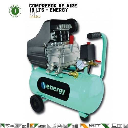 compresores energy  ac10 18lts con aceite/baja presión fama