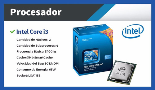 computadoras nuevas completas pc intel i3 - pc escritorio