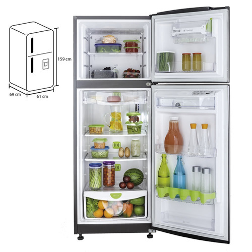 con freezer heladera
