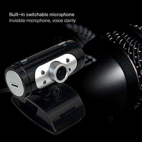con micrófono web