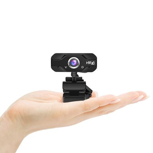 con micrófono webcam,