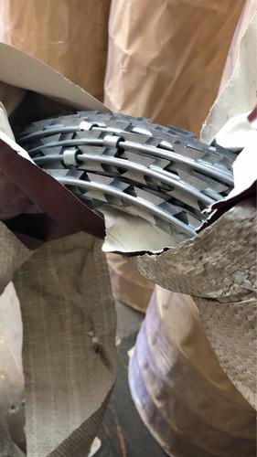 concertina galvanizada doble filo con clip 14 mts