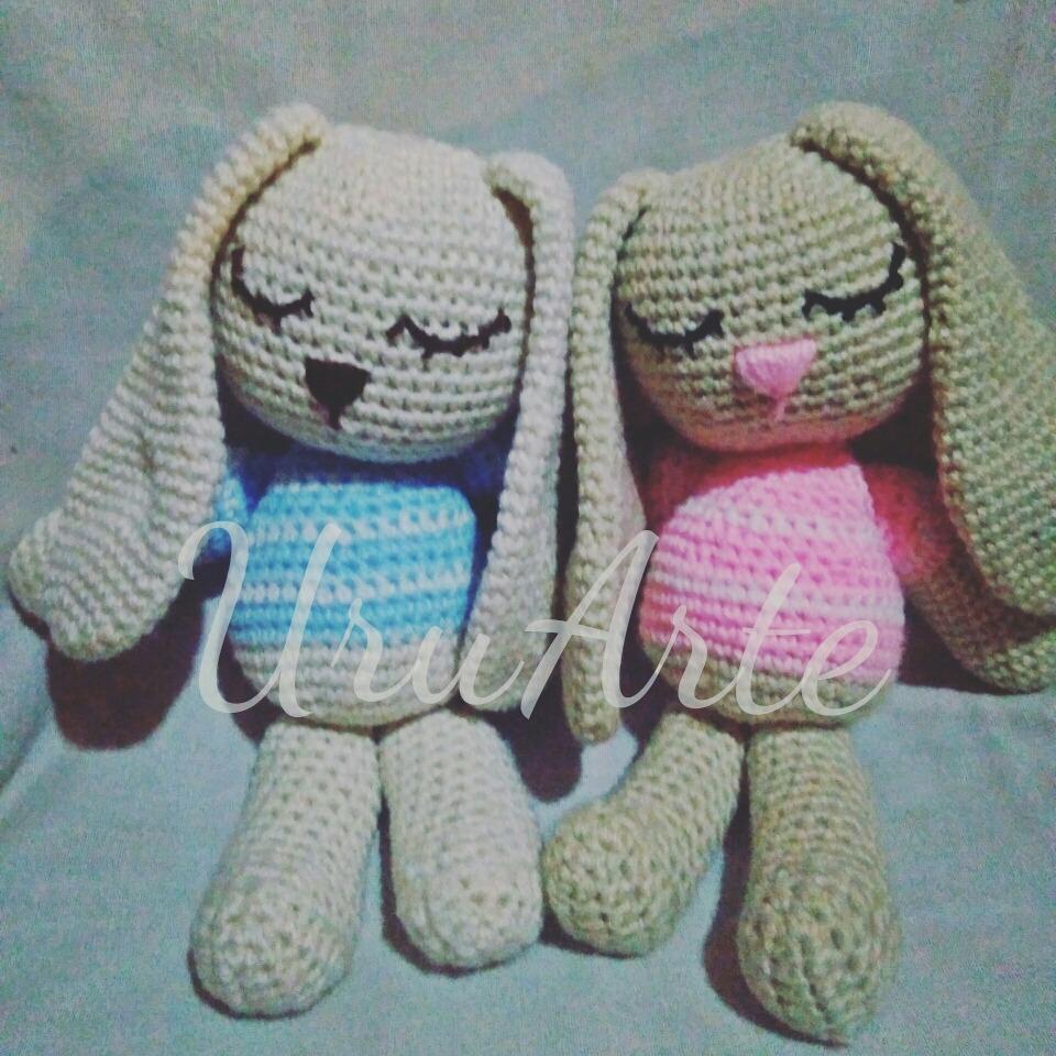 Conejo Crochet Amigurumi Peluche Muñeco Infantil Bebe - $ 480,00 en ...