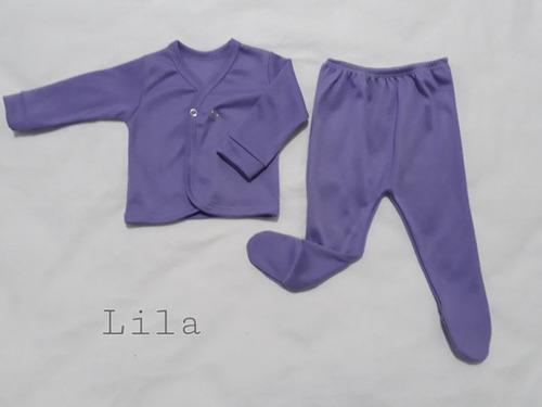 conjunto  bebé  pelele y batita  jersey y algodón interlock.