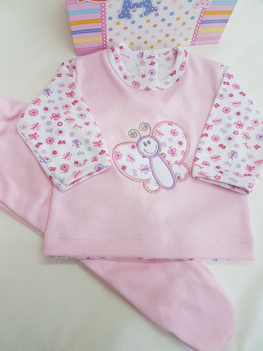 b617f3c5f conjunto bordado new baby 100%algodón bebito recién nacido. Cargando zoom.