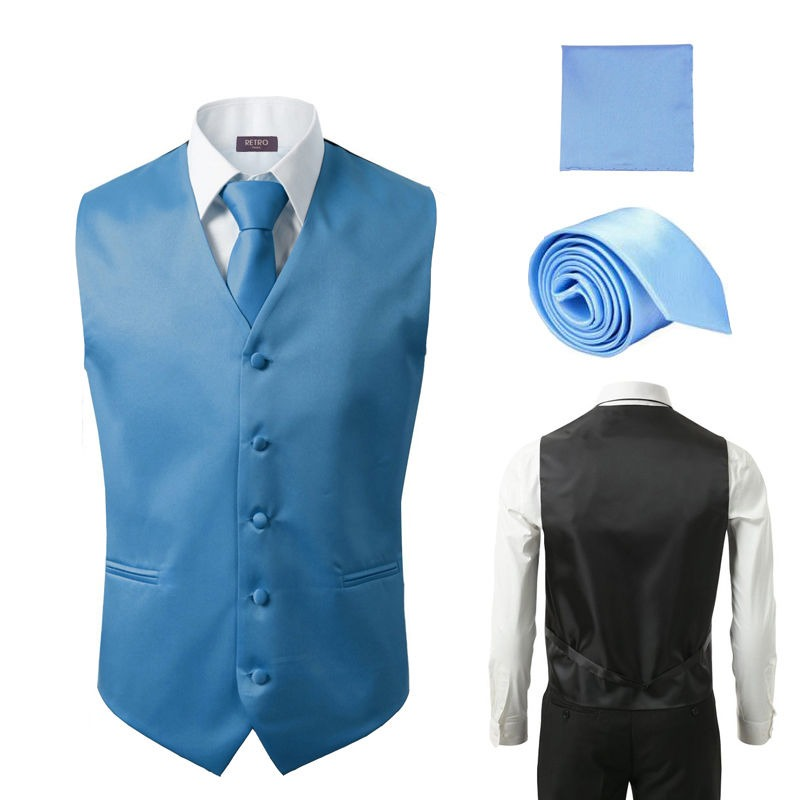 0db21687925 Conjunto Chaleco Corbata Pañuelo De Moda Para Hombre Formal - U S 89 ...