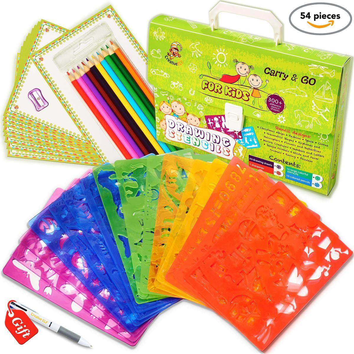 Conjunto De Plantillas De Dibujo Para Niños (49 Piezas) - - U$S 80 ...