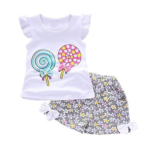 3bc1e7c5f Conjunto De Ropa Infantil De Verano Para Niñas Bebé Conju - U$S 45,00 en  Mercado Libre