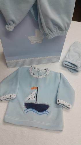 conjunto  en plush para bebe recien nacido
