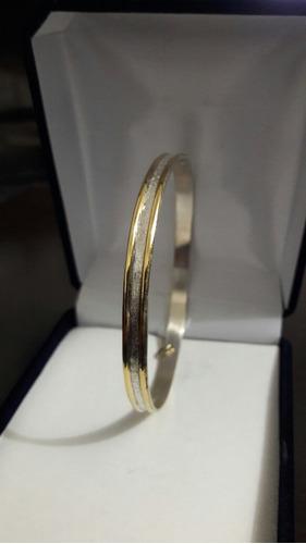 conjunto esclava y anillo plata y oro !!