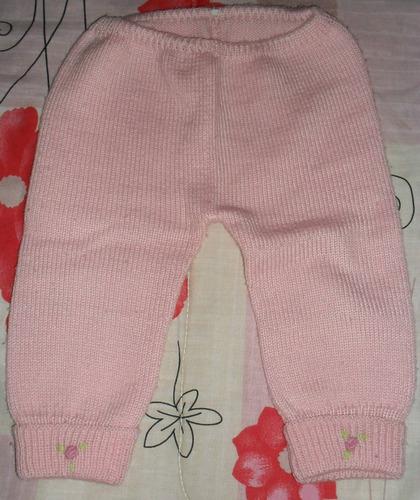 conjunto lana rosado buzo y pelele-ropa beba 5-9 meses