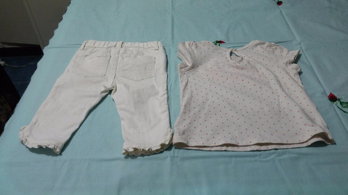 conjunto remera y pantalon pescador niña