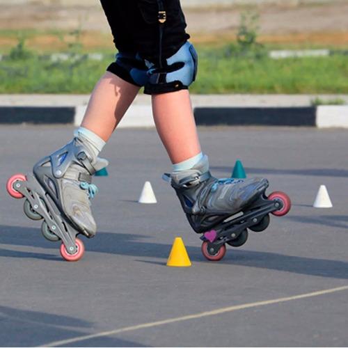 cono para slalom rollers patín fútbol entrenamiento - el rey