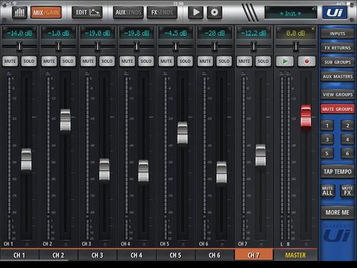 consola digital soundcraft ui12 para ipad pc android