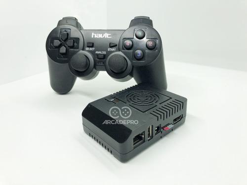 consola juegos retro arcade pro + 128gb + 2 joystick inalam