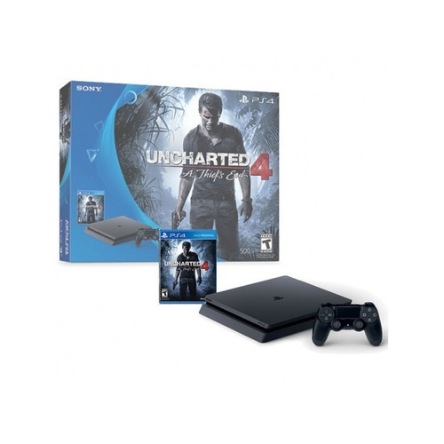 consola playstation 4 500gb uncharted 4 - 6 cuotas