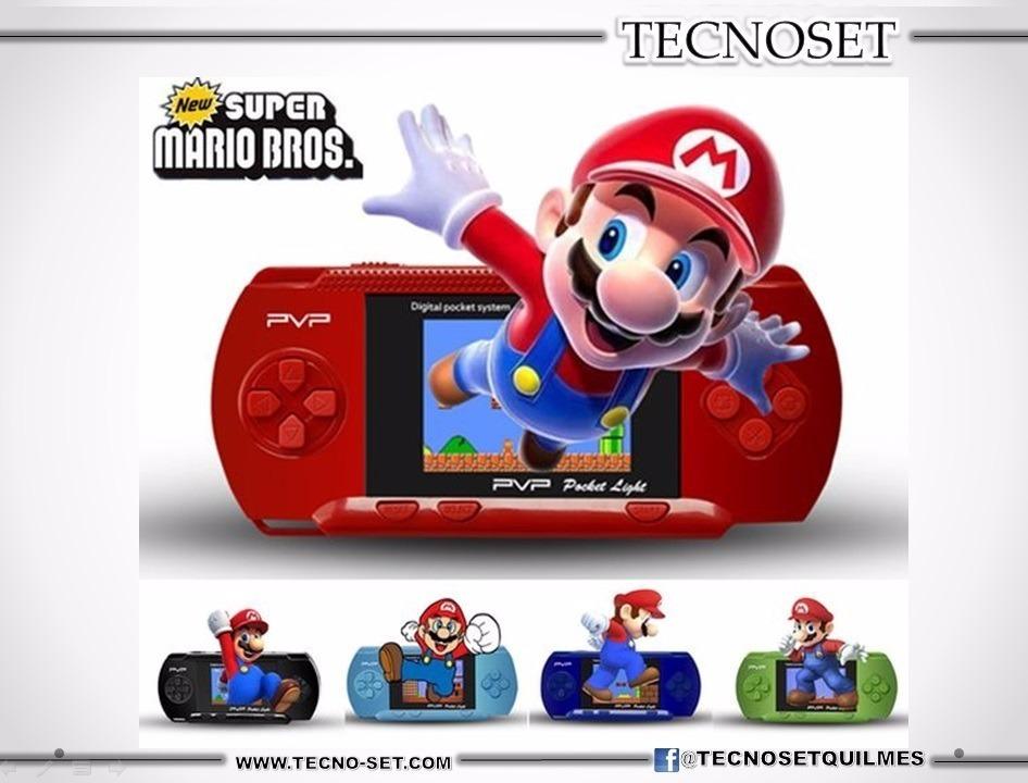 Consola Portatil Pvp Original Cientos De Juegos Mario Bros