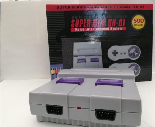 consola retro vintage super mini sn-01 con 500 juegos !!