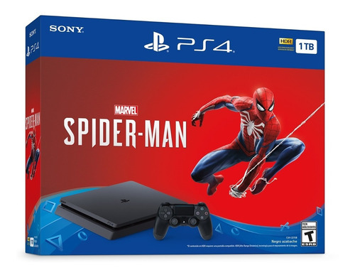 consolas ps4 1tb + spiderman