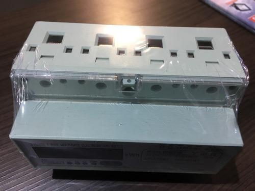 contador trifasico medidor energia din 230v 400v