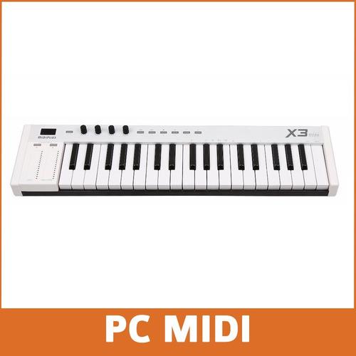 controlador midi midiplus x3 mini sensitivo+pedal de sustain