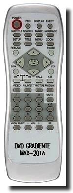 controle remoto para dvd gradiente