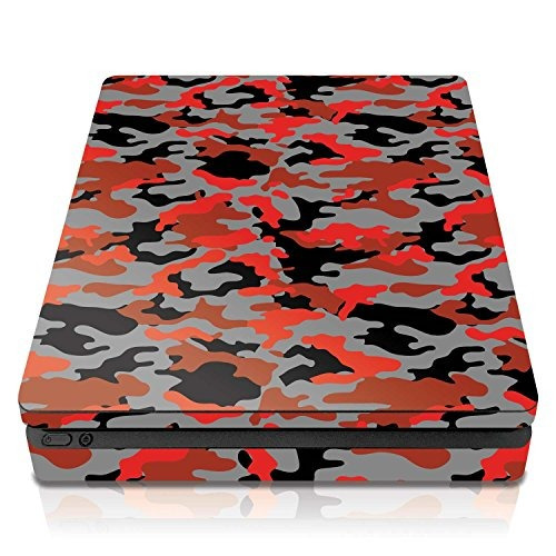 controller gear ps4 slim console skin ox blood camo