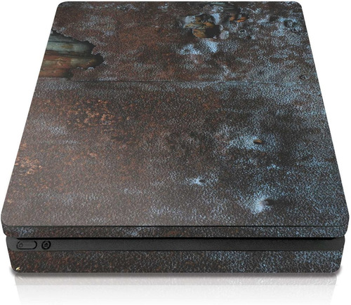 controller gear ps4 slim console skin - rusty metal