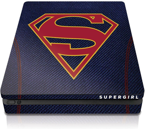 controller gear supergirl  suit  - ps4 slim console skin -