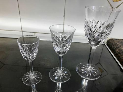 copas cristal antiguo talladas licor