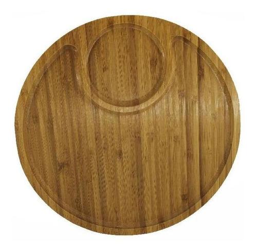 copetinero redondo de madera x 2 divisiones 32.5 cm