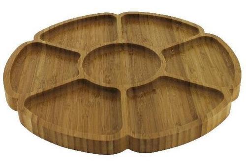 copetinero x 7 divisiones de madera 31.5 cm