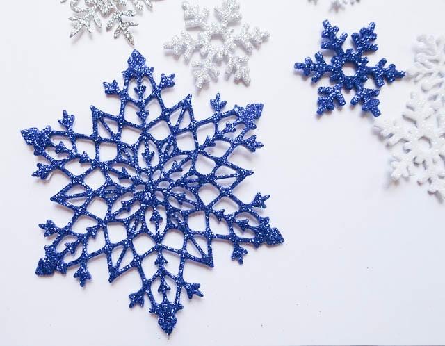 Copos De Nieve 95cms Flake Frozen Goma Eva Con Glitter 1700 En