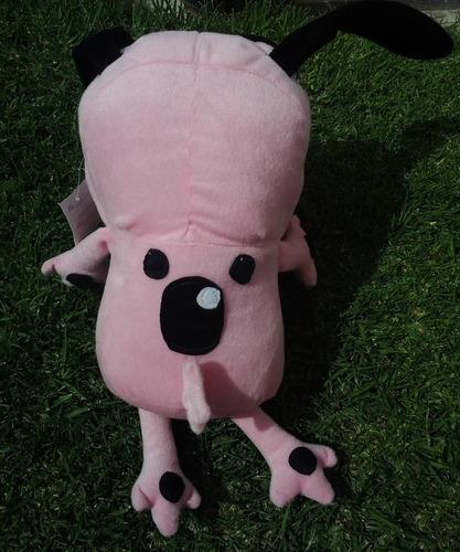 coraje el perro cobarde de peluche 45 cms (envio gratis)