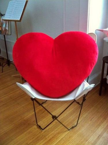 corazon de peluche gigante 1 metro