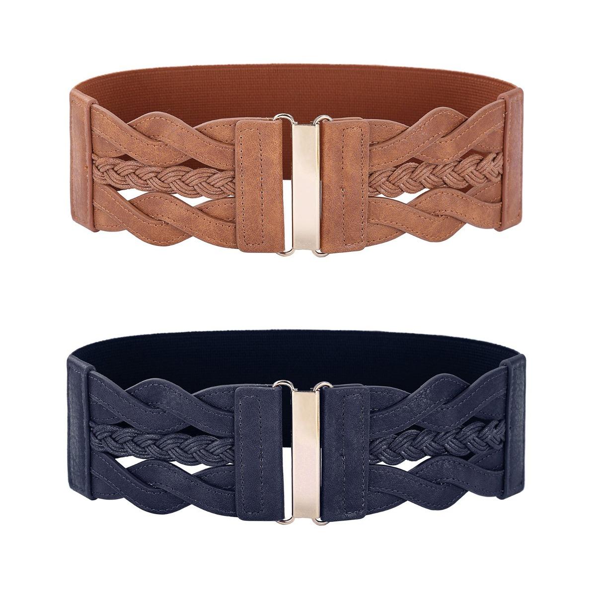 comprar popular a8673 e17d3 Correa Trenzada Para Mujer Cinturón Elástico De Cintura A