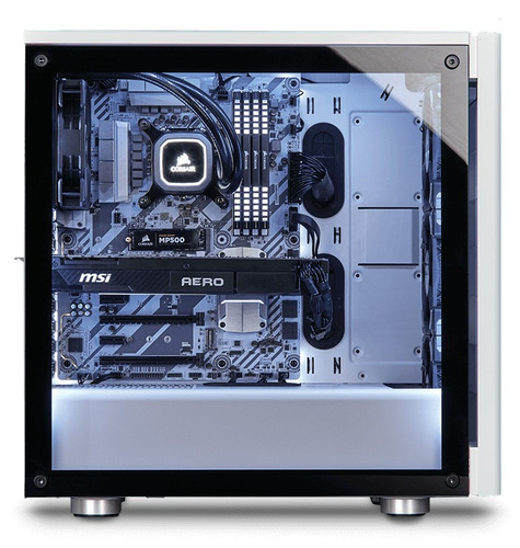 corsair gabinete gamer pc atx micro atx carbide 275r cristal